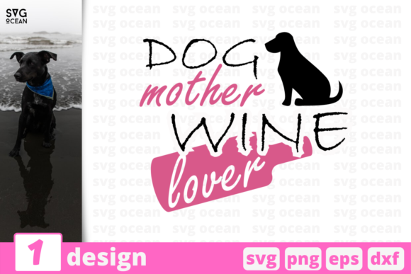 Download Free Dog Mother Graphic By Svgocean Creative Fabrica for Cricut Explore, Silhouette and other cutting machines.