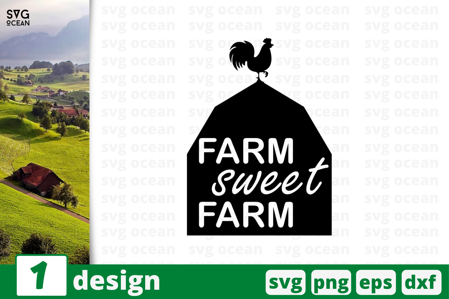Download Free Farm Sweet Farm Graphic By Svgocean Creative Fabrica for Cricut Explore, Silhouette and other cutting machines.