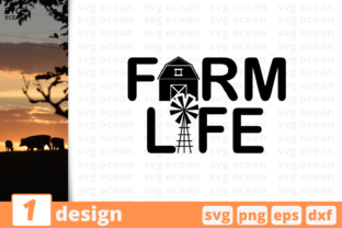 Download Free Farm Life Quote Graphic By Svgocean Creative Fabrica for Cricut Explore, Silhouette and other cutting machines.