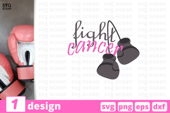 Download Free Fight Cancer Graphic By Svgocean Creative Fabrica for Cricut Explore, Silhouette and other cutting machines.