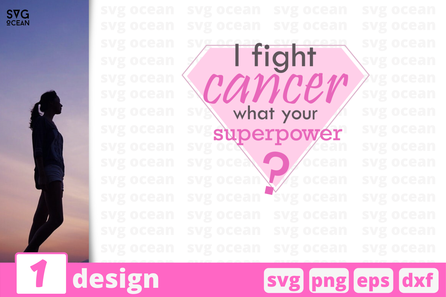 Download Free Fight Cancer Quote Graphic By Svgocean Creative Fabrica for Cricut Explore, Silhouette and other cutting machines.