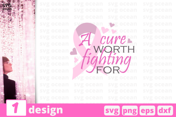 Download Free A Cure Worth Fighting For Graphic By Svgocean Creative Fabrica for Cricut Explore, Silhouette and other cutting machines.