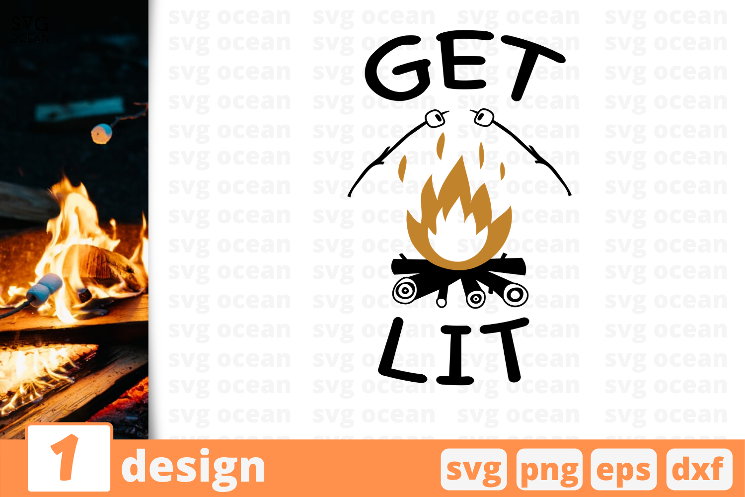 Download Free 1 Get Lit Camping Quotes Cricut Svg Graphic By Svgocean for Cricut Explore, Silhouette and other cutting machines.