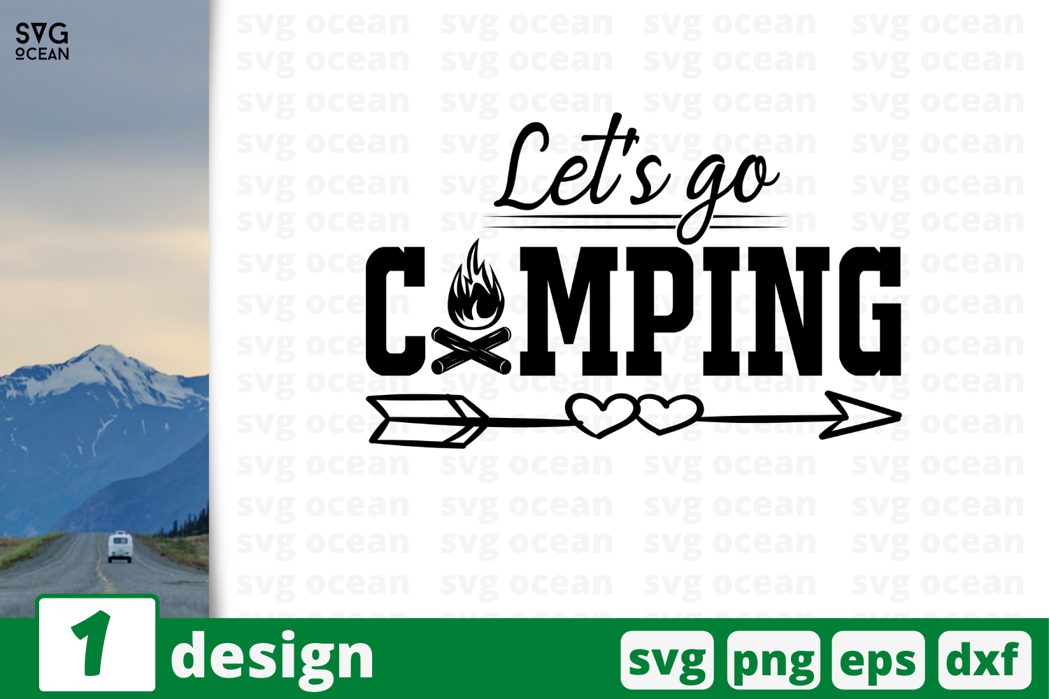 Download Free Let S Go Camping Graphic By Svgocean Creative Fabrica for Cricut Explore, Silhouette and other cutting machines.
