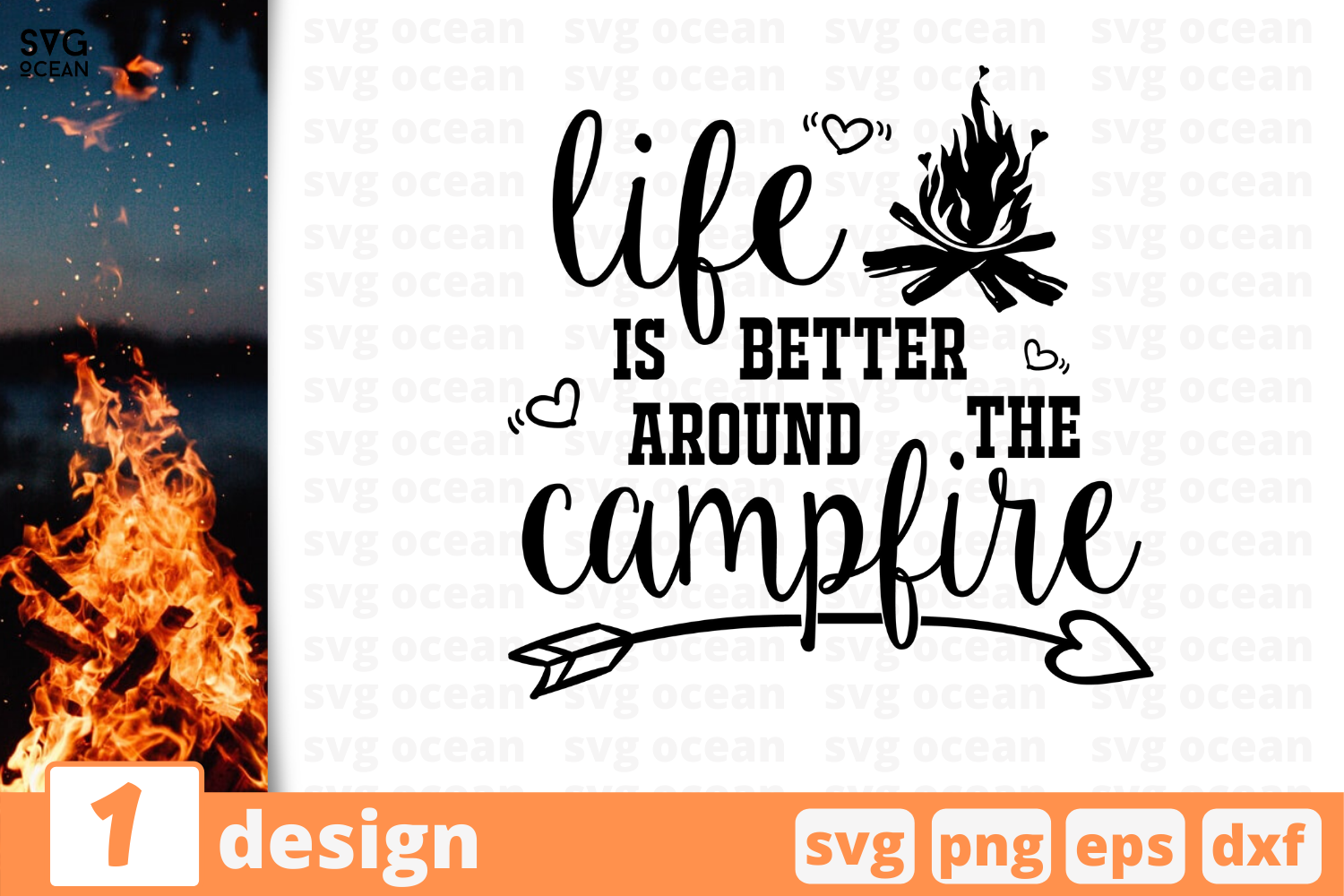 Download Free Life Is Better Around Campfire Graphic By Svgocean Creative SVG Cut Files