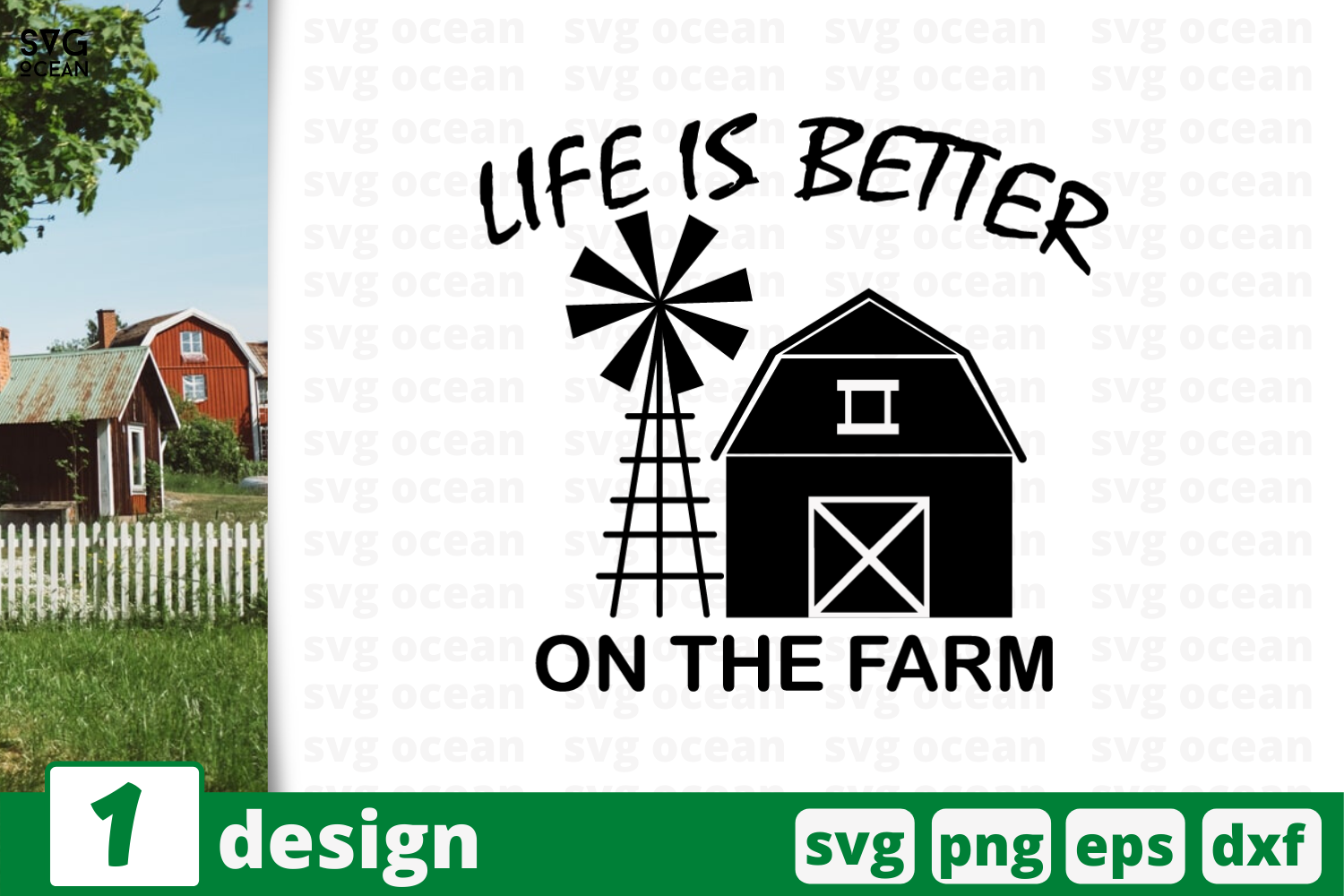 Download Free Life Is Better On The Farm Graphic By Svgocean Creative Fabrica for Cricut Explore, Silhouette and other cutting machines.