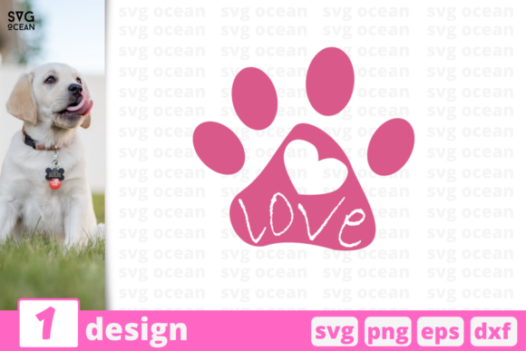 Download Free Love Pets Graphic By Svgocean Creative Fabrica for Cricut Explore, Silhouette and other cutting machines.