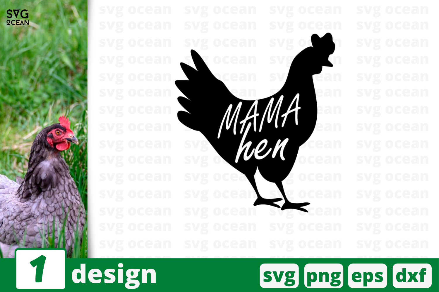 Download Free Mama Hen Graphic By Svgocean Creative Fabrica for Cricut Explore, Silhouette and other cutting machines.