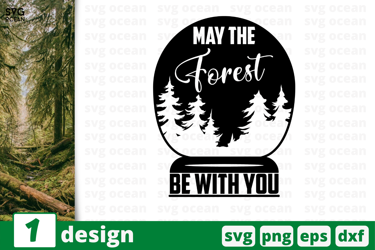 Download Free May The Forest Be With You Graphic By Svgocean Creative Fabrica for Cricut Explore, Silhouette and other cutting machines.