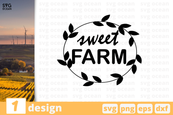 Download Free Sweet Farm Quote Graphic By Svgocean Creative Fabrica for Cricut Explore, Silhouette and other cutting machines.