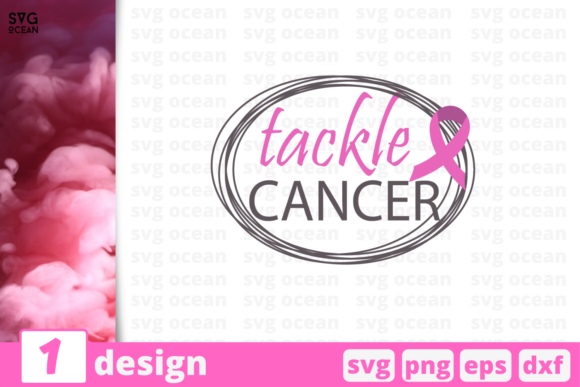 Download Free Tackle Cancer Graphic By Svgocean Creative Fabrica for Cricut Explore, Silhouette and other cutting machines.