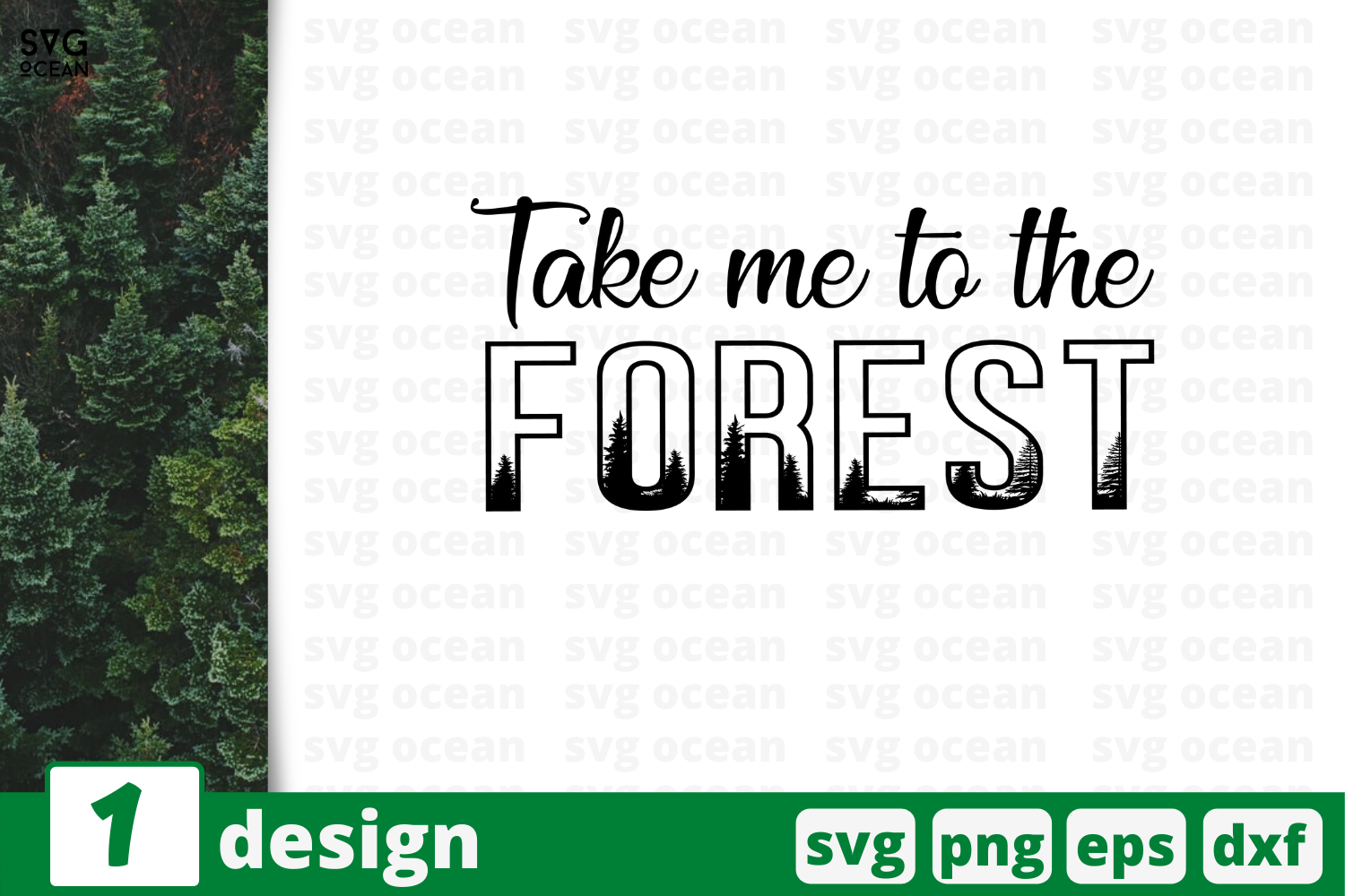 Download Free Take Me To The Forest Graphic By Svgocean Creative Fabrica for Cricut Explore, Silhouette and other cutting machines.