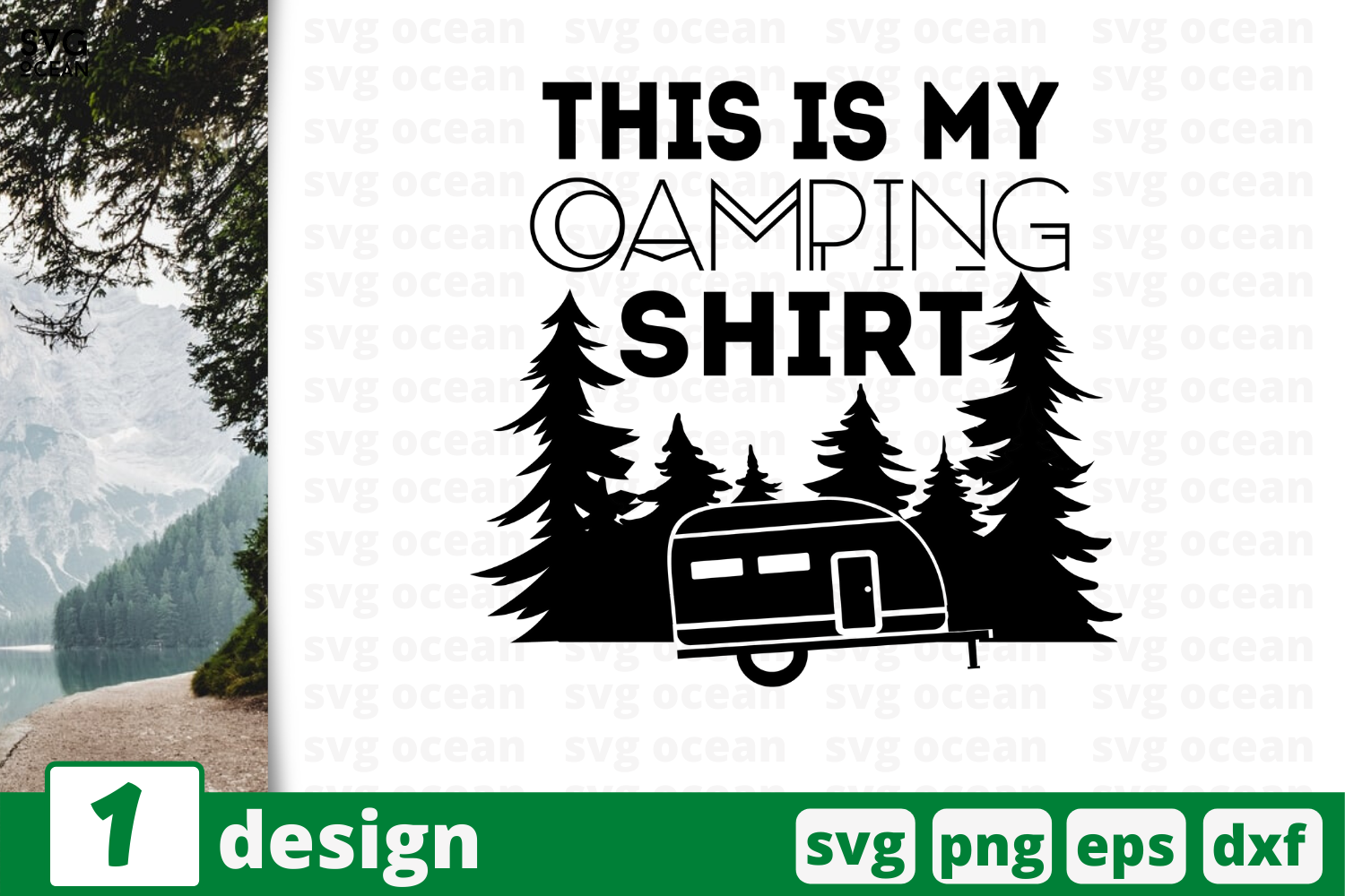Download Free This Is My Camping Shirt Graphic By Svgocean Creative Fabrica for Cricut Explore, Silhouette and other cutting machines.