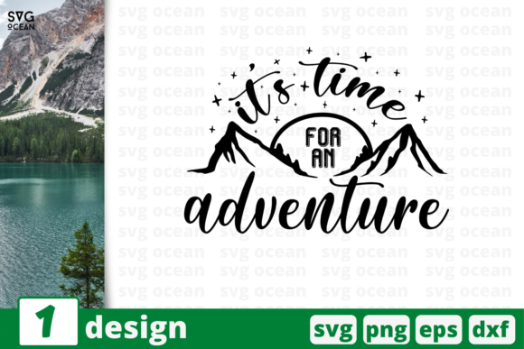 Download Free Time For Adventure Graphic By Svgocean Creative Fabrica for Cricut Explore, Silhouette and other cutting machines.