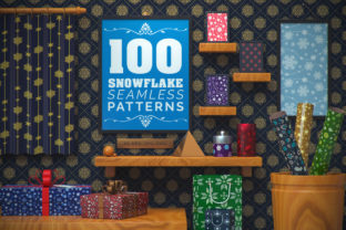 100 Snowflake Seamless Patterns Graphic Patterns By pixaroma