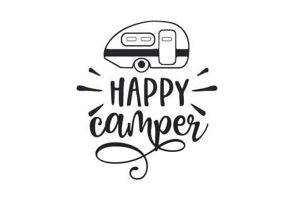Happy Camper Reisen Plotterdatei von Creative Fabrica Crafts