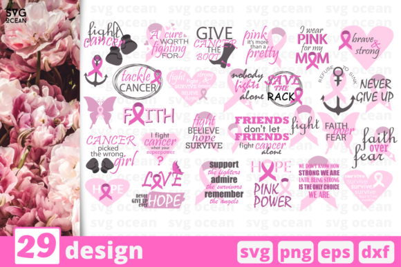 Download Free 178 Cancer Designs Graphics for Cricut Explore, Silhouette and other cutting machines.