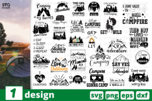 Download Free 30 Camping Quotes Bundle Graphic By Svgocean Creative Fabrica for Cricut Explore, Silhouette and other cutting machines.
