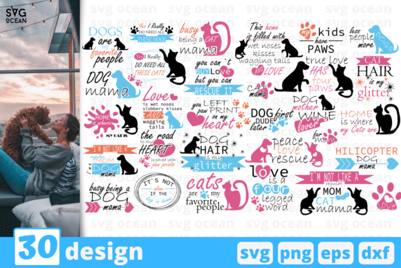 Download Free 30 Pet Quotes Bundle Graphic By Svgocean Creative Fabrica for Cricut Explore, Silhouette and other cutting machines.
