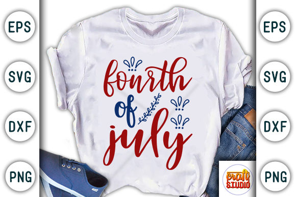 Download Free 4th Of July Fourth Of July Graphic By Craftstudio Creative for Cricut Explore, Silhouette and other cutting machines.