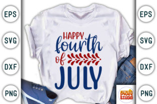 Download Free 4th Of July Happy Fourth Of July Graphic By Craftstudio for Cricut Explore, Silhouette and other cutting machines.