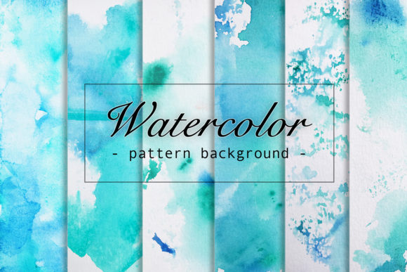 6 Watercolor Paper Seamless Patterns Graphic Backgrounds By Saydung89