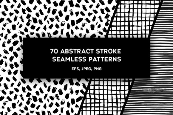 70 in 1 - Abstract Stroke Pattern Graphic Textures By Olga Lots