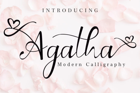 Print on Demand: Agatha Script & Handwritten Font By yogaletter6
