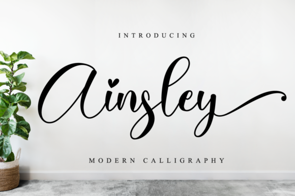 Print on Demand: Ainsley Script & Handwritten Font By NissaStudio