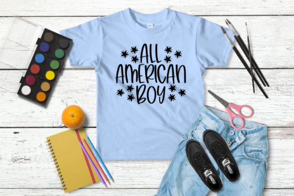 Download Free All American Boy Graphic By Talia Smith Creative Fabrica for Cricut Explore, Silhouette and other cutting machines.