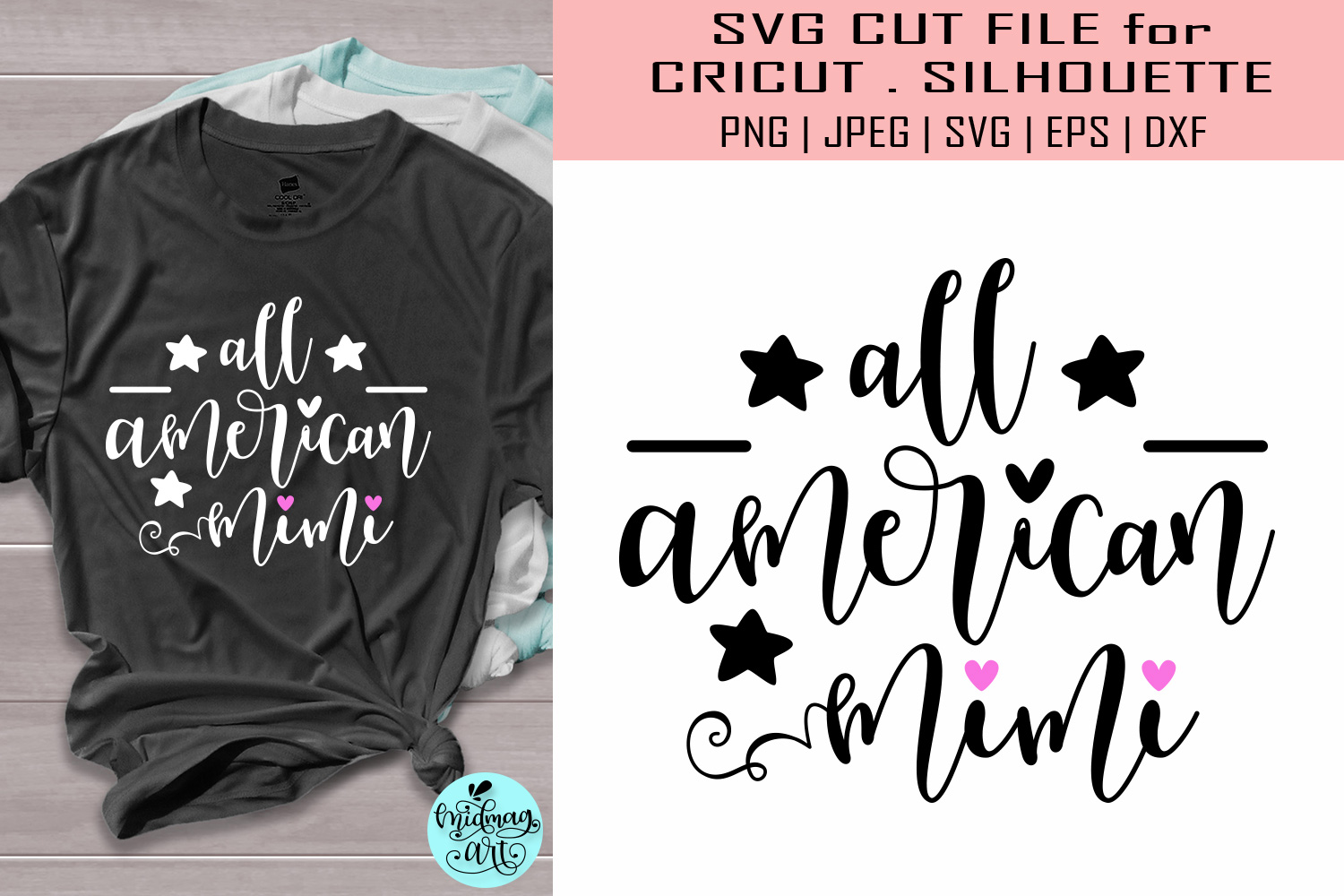 Download Free All American Mimi 4th Of July Graphic By Midmagart Creative for Cricut Explore, Silhouette and other cutting machines.