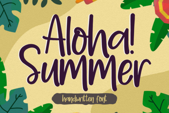 Print on Demand: Aloha Summer Manuscrita Fuente Por jimtypestudio