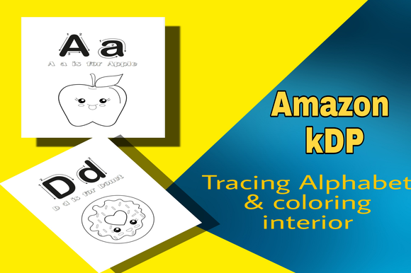 Download Free Alphabet Tracing For Kids Interior Graphic By Mcharrachy for Cricut Explore, Silhouette and other cutting machines.