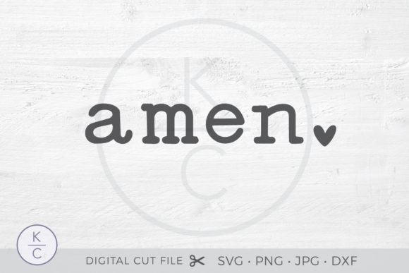 Download Free Amen Graphic By Thekccollectiveco Creative Fabrica for Cricut Explore, Silhouette and other cutting machines.