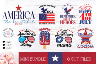 America Patriotic - 4th of July Mini Bundle Graphic Crafts By GraphicHouseDesign