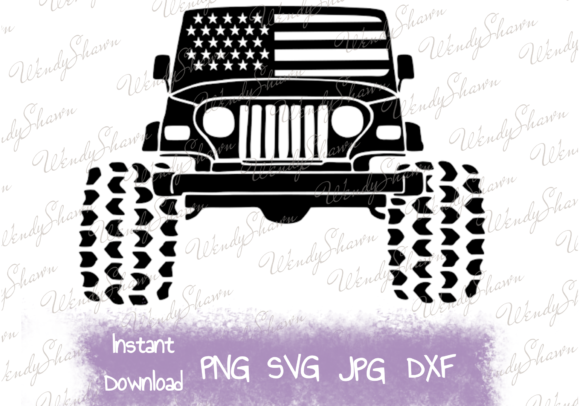American 4x4 Graphic Objects By wendy18