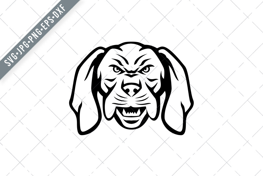 Download Free Angry Hungarian Vizsla Dog Head Graphic By Patrimonio Creative for Cricut Explore, Silhouette and other cutting machines.