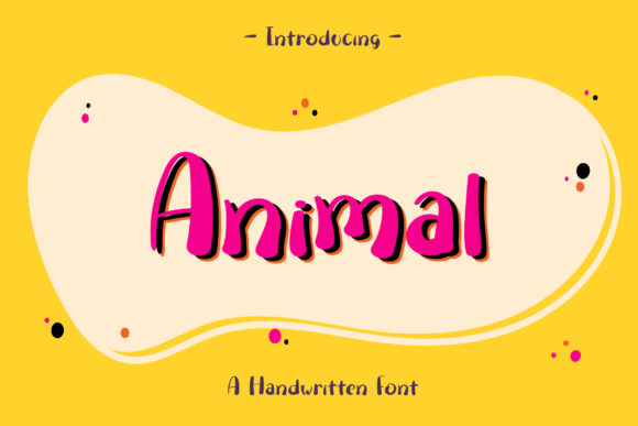 Print on Demand: Animal Script & Handwritten Font By Wanida Toffy