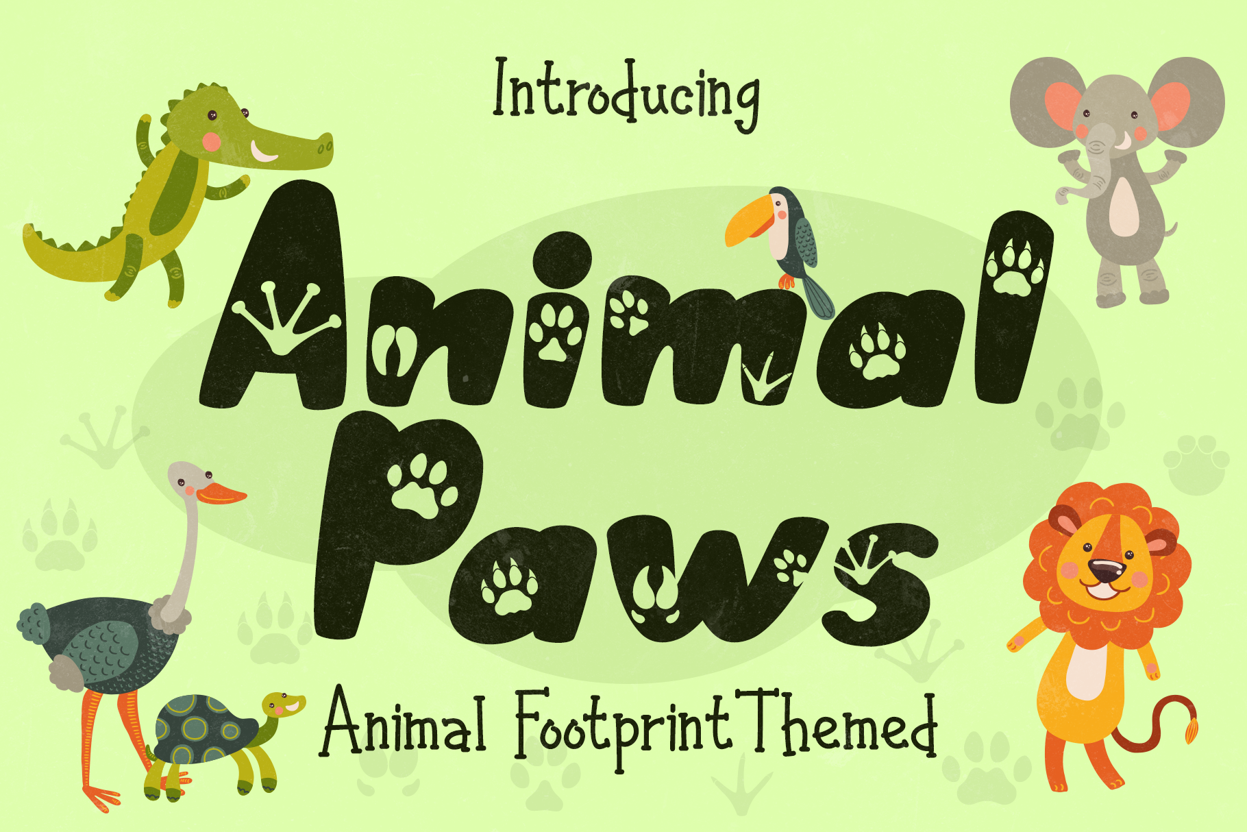 Download Free Animal Paws Font By Letterbeary Creative Fabrica for Cricut Explore, Silhouette and other cutting machines.
