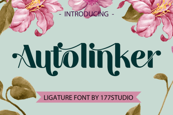 Print on Demand: Autolinker Display Font By 177Studio