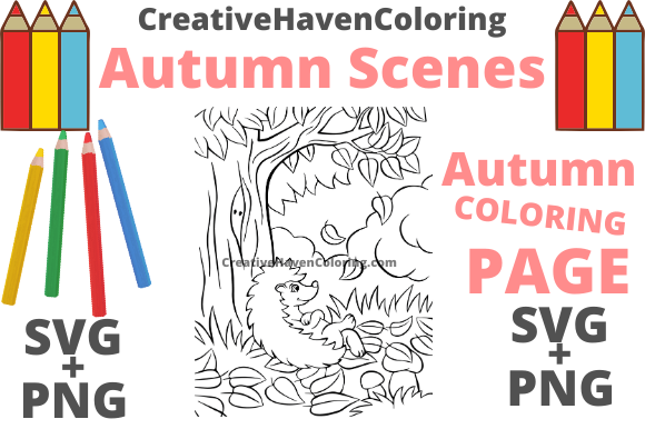 Print on Demand: Autumn Coloring Page #10 Graphic Coloring Pages & Books Adults By creativehavencoloring