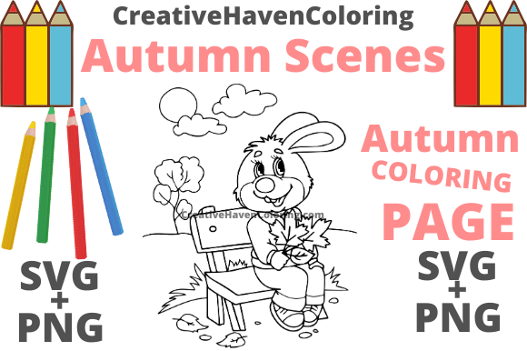 Print on Demand: Autumn Coloring Page #11 Graphic Coloring Pages & Books Adults By creativehavencoloring