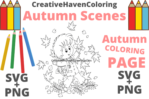 Print on Demand: Autumn Coloring Page #12 Graphic Coloring Pages & Books Adults By creativehavencoloring