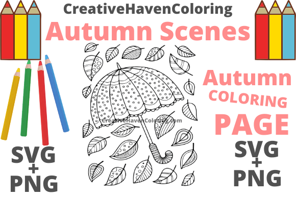 Print on Demand: Autumn Coloring Page #13 Graphic Coloring Pages & Books Adults By creativehavencoloring