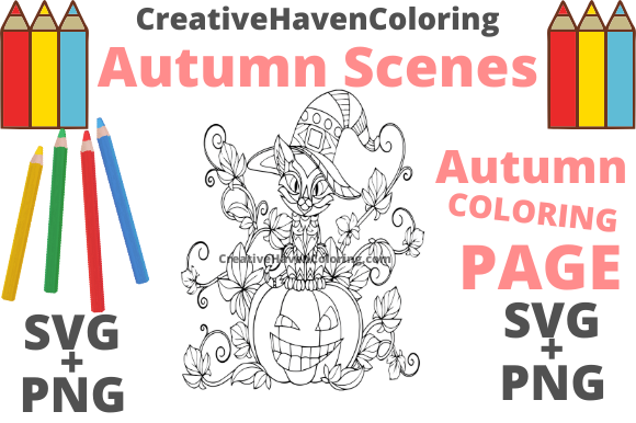Print on Demand: Autumn Coloring Page #14 Graphic Coloring Pages & Books Adults By creativehavencoloring