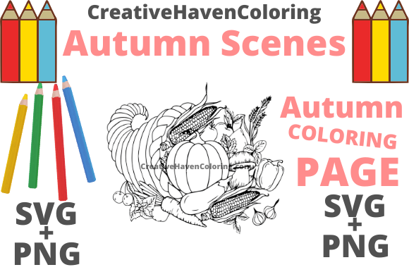Print on Demand: Autumn Coloring Page #15 Graphic Coloring Pages & Books Adults By creativehavencoloring