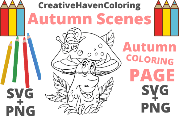 Print on Demand: Autumn Coloring Page #17 Graphic Coloring Pages & Books Adults By creativehavencoloring
