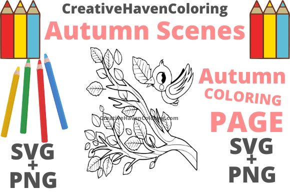 Print on Demand: Autumn Coloring Page #5 Graphic Coloring Pages & Books Adults By creativehavencoloring