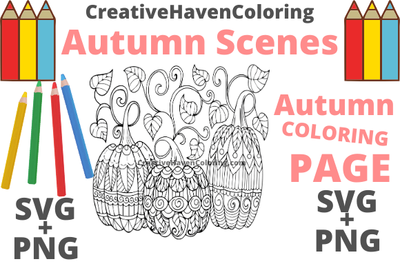 Print on Demand: Autumn Coloring Page #7 Graphic Coloring Pages & Books Adults By creativehavencoloring