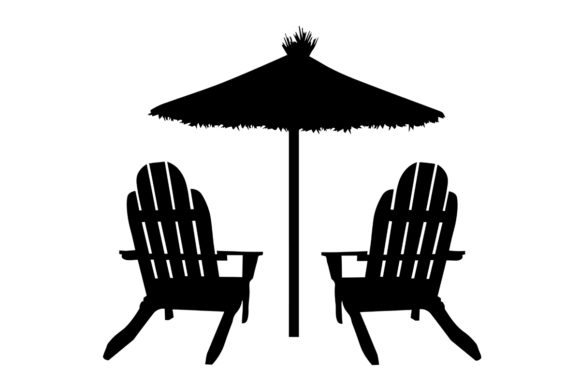 Download Free Beach Chairs With Umbrella Graphic By Creativeshohor Creative for Cricut Explore, Silhouette and other cutting machines.